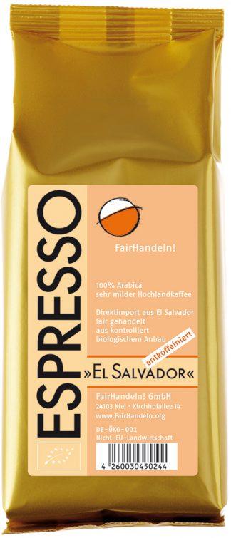 Espresso El Salvador - biologischer Anbau